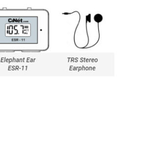 Elephant Ear ESR-11 + TRS Stereo Earphone with 3.5 mm jack