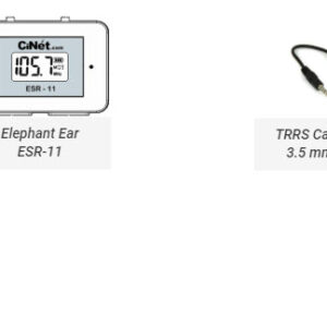 Elephant Ear ESR-11<br> + TRRS Cable with 3.5 mm jacks (both ends) for connecting Elephant Ear with cell phone for recording